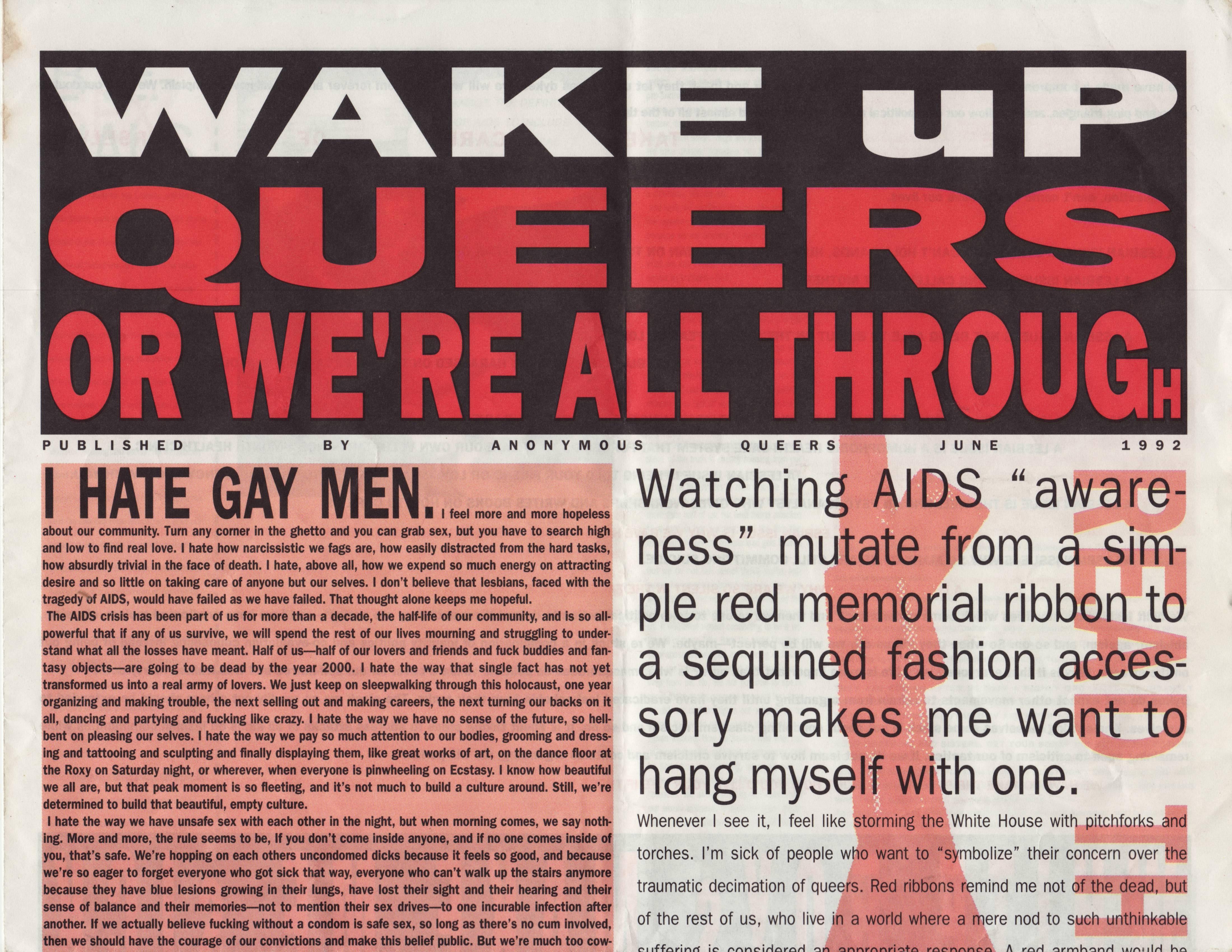 Queer estrangement circa 1992