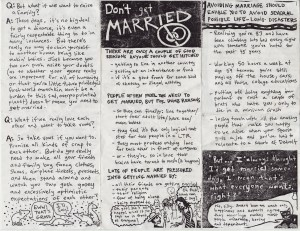 "Artist Sy Wagon offers good advice: ""Don't get married."""